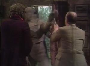 The mummy robots break in!